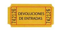 Devolución de las entradas en espacios dependientes del ICAS