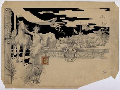Un dibujo original de García Ramos en el Archivo Municipal de Sevilla