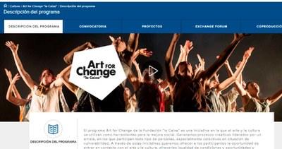 Abierto hasta el 8 de junio el plazo para presentar propuestas creativas a la convocatoria 'Art for Change' de la Fundación 'la Caixa'