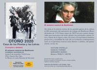 La Casa de los Poetas y las Letras del ICAS examina la figura y obra de Beethoven y su proyección en el 250 aniversario de su nacimiento
