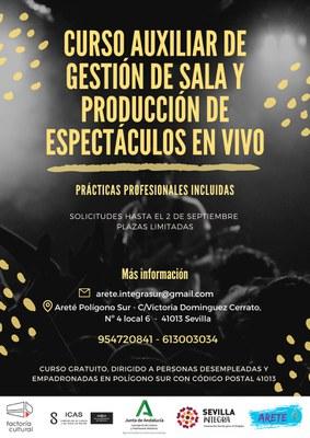 El Ayuntamiento oferta un curso formativo en auxiliar de gestión de sala y producción de espectáculos en vivo en Factoría Cultural