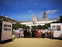 El Ayuntamiento organiza una exposición fotográfica en el Patio de Banderas en el marco de la amplia programación cultural y científica para conmemorar el 90 aniversario de la cesión del Real Alcázar a la ciudad