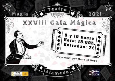 El Teatro Alameda inicia el año con una nueva edición de la  Gala Mágica, programada los  días 9 y 10 de enero