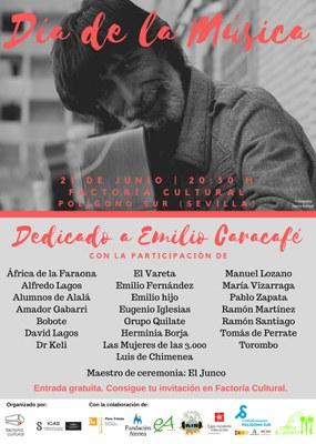Factoría Cultural celebra el  Día de la Música con más de una veintena de artistas flamencos en un espectáculo dedicado a  Emilio Caracafé