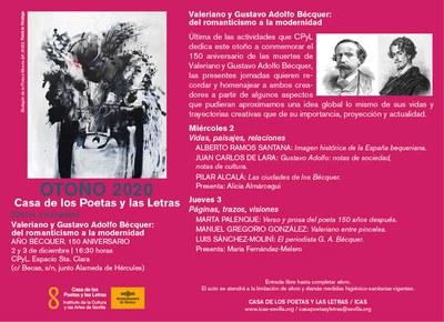La Casa de los Poetas y las Letras del ICAS profundiza en la creación, trayectorias y proyección de Gustavo Adolfo y Valeriano Bécquer