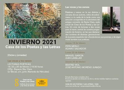 Pepa Merlo y Álvaro Salvador abren esta semana el ciclo 'Las voces y los versos' de la Casa de los Poetas y las Letras
