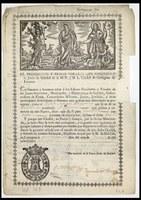 Precauciones contra la peste en 1820