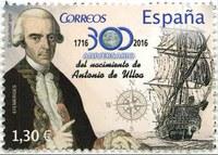 Presentado el sello conmemorativo del nacimiento de Antonio de Ulloa (1716-1795)