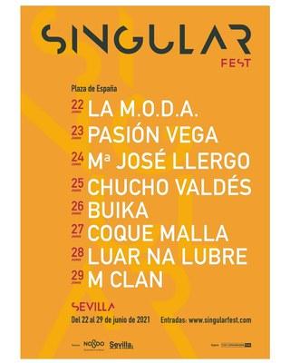 Singular Fest inaugura una semana de conciertos en la Plaza de España con La M.O.D.A.