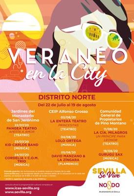 Teatro, flamenco, blues y jazz vuelven a llevar el 'Veraneo en la City' al Distrito Norte